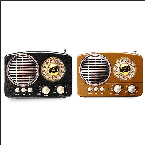 CYC Retro-Nostalgisches Radio Mit Drahtlosem Bluetooth-Lautsprecher, FM-Radio Im Klassischen Stil Mit Starker Bassverstärkung,Schwarz