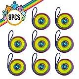KidiKorner Corde à Doigts Rainbow Rope- Stringz Jouet - Cats Cradle Corde - Jeu de Ficelle, Jeu d'Adresse, Jeu d'Habilité Enfant, Petit Cadeau , Pack de 8 pièces.