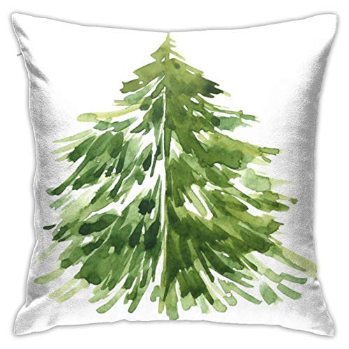 wteqofy Christmas Pine Tree Throw Pillow Case Cushion Covers Home for Sofa Chair Couch/Bedroom Livingroom Decorative Home Decor Pillowcases 18inch*18inch