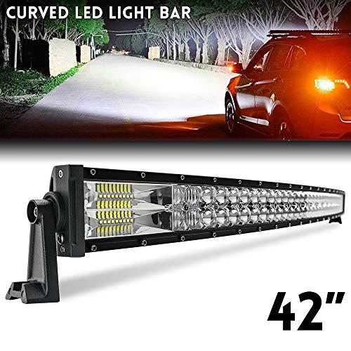 42 zoll Curved LED Bar 109 cm 2 Reihen Flutlicht Spot Combo Beam IP67 Offroad Fahrlicht für LKW ATV SUV Boot CO LIGHT, 9627-42