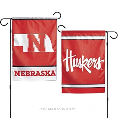 WinCraft NCAA University of Nebraska 12x18 Inch 2-Sided Outdoor Garden Flag Banner