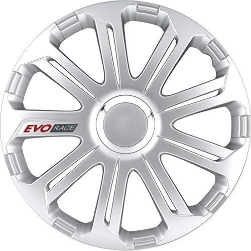 Jeu d'enjoliveurs EVO Race 16-inch argent/anneau chromé/logo