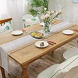 TAOCOCO Jute Tischläufer 5 Stück Rustic Burlap Spitze Hessischen Rustikale Land für Hochzeit Festival-Ereignis Tischdekoration 30 x 275cm - 6
