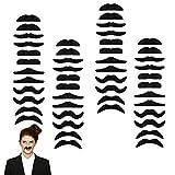 48PCS Self-Adhesive Fake Mustaches - Novelty Fake...