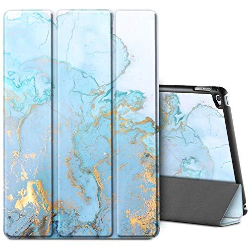 EasyAcc Hülle Kompatibel mit iPad Air,Ultra Slim Hülle Hülle Schutzhülle PU Lederhülle mit Standfunktion/Auto Sleep Wake Up Funktion Kompatibel mit iPad Air 2013 (A1474 A1475 A1476) - Blauer Marmor