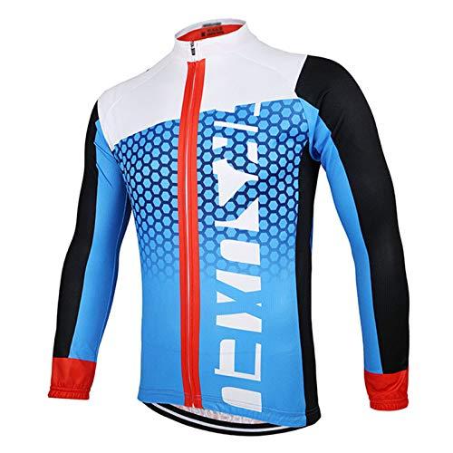 Maillot Ciclismo Manga Larga para Hombre,Verano Bike Abrigo Camiseta Ciclismo Bicicleta Jersey...