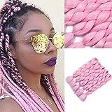 YMHPRIDE Extensiones de cabello de trenzado rosa jumbo moda Xpression Kanekalon trenzado...