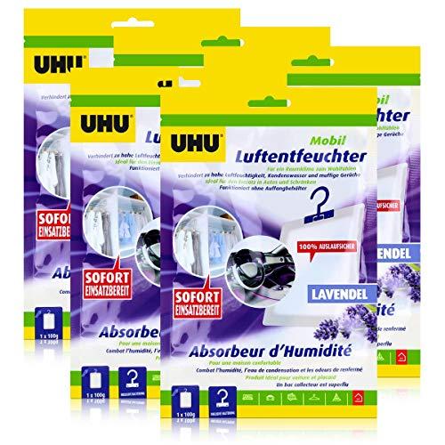 UHU Air max Luftentfeuchter mobil mit Auslaufschutz Duft Fresh (5er Pack)