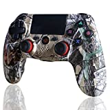 BMSARE Mando para PS4, Bluetooth Inalámbrico Game Mandos Gamepad Joystick para PS4 Pro/Slim con 6 Axis Gyro Sensor y Dual Shock Vibración, Audio Micrófono y Touch Panel Pintada