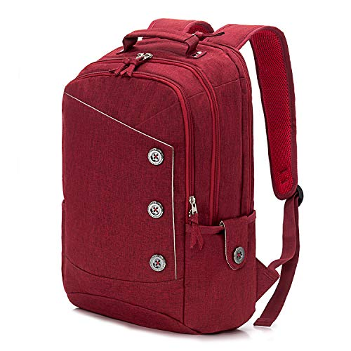 KINGSLONG Laptop Backpack for Women 15.6 inch for Travel Work Waterproof Red