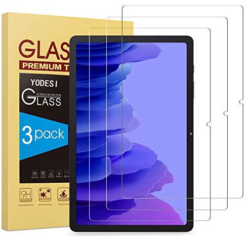 YODESI[3 unidades] Protector de pantalla compatible con Samsung Galaxy Tab A7 10.4 2020,9H Dureza,2.5D vidrio blindado, Samsung Galaxy Tab A7 T505/T500/T507 10.4 pulgadas 2020