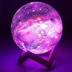 15cm Mond Lampe Nachtlampe 3D Mondlicht, 16 Farbe LED RGB Sternenhimmel Mondlampe Nachtlicht Schlafzimmer Dekor Moon Light USB Lade Stimmung Licht für Baby Kinder Geburtstags Liebhaber