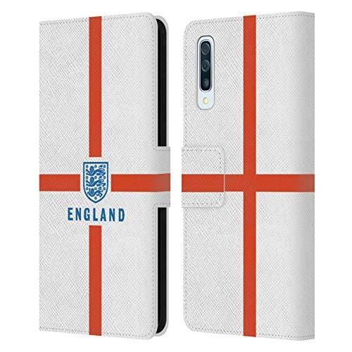 Head Case Designs sous Licence Officielle England National Football Team Drapeau Patrimoine Coque en Cuir à Portefeuille Compatible avec Samsung Galaxy A50/A30s (2019)