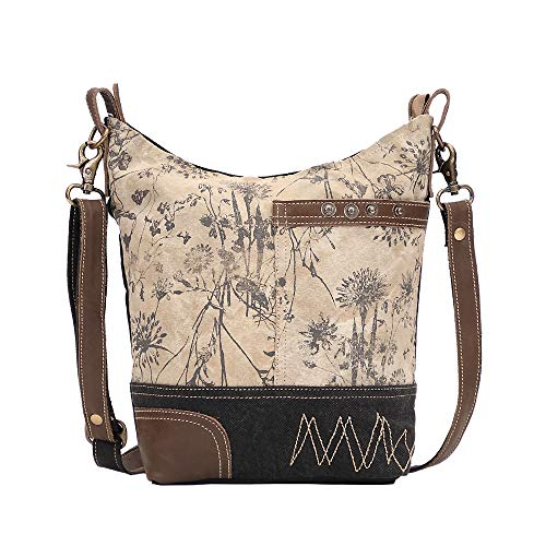 Myra Bag Solidaster Upcycled Canvas & Leather Shoulder Bag S-1525