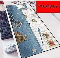 マウスパッド漫画絵画スピードゲーミングマウスパッド| XXLラージ900 x 400mmサイズ| 3mm厚のベース完璧な精度とスピード D