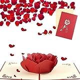 Sethexy 3D Ringraziamento Biglietti d'auguri San Valentino Invito a nozze Apparire Rosa An...