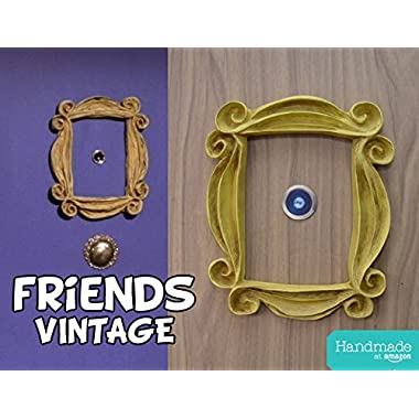 FRIENDS TV SHOW , VINTAGE STYLE PEEPHOLE FRAME MONICA'S DOOR. Handmade.