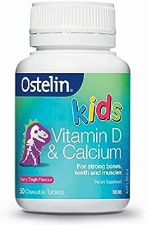 Ahth Ostelin Vitamin D and Calcium Kids Chewable 50 capsules berry tringle flavor Origin of Australia