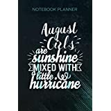Notebook Planner August Girls Sunshine And Hurricane: Daily Journal, To Do List, Money, 114 Pages, 6x9 inch, Financial, Stylish Paperback, Business