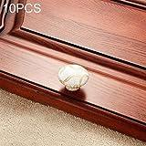 Manilla puerta, 10 PCS 5083 orificio de mármol Textura de cerámica de la manija del gabinete del armario, cerrojo puerta