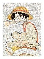 JINHAN アニメシリーズワンピース300成人向けモザイクパズル、フロアパズル、教育的インテリジェント減圧エンターテイメントファミリーゲーム、おもちゃ、ギフト ジグソーパズル (Color : F)