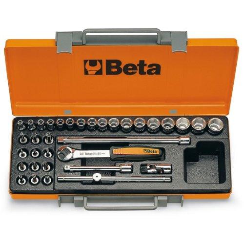 Beta 900/C29 - Juego de llaves de vaso (29 piezas, barras de extensión, mango en T y trinquete reversible)