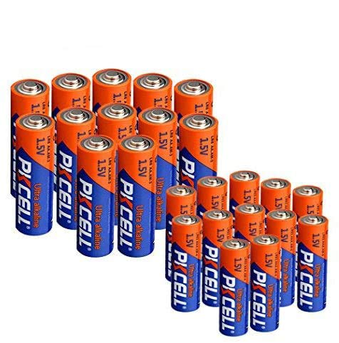 AA Battery LR6 12pcs +AAA Battery LR03 12pcs 1.5V Alkaline Batteries for Thermometer (24 Combo Pack)