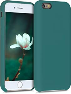 kwmobile TPU Silicone Case Compatible with Apple iPhone 6 / 6S - Case Slim Protective Phone Cover with Soft Finish - Turquoise Green