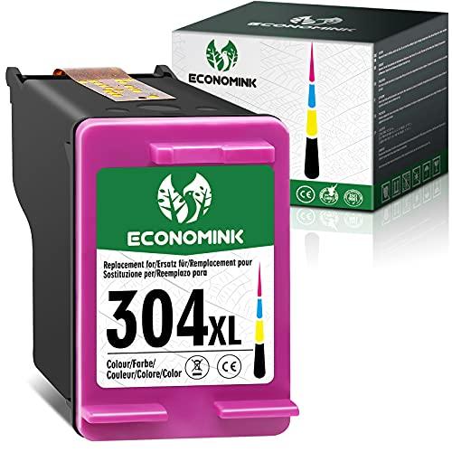Economink Sostituzione cartuccia rigenerata per HP 304 304xl cartucce d'inchiostro per HP Deskjet 3720 2600 Envy 5030 3750 3760 2630 5032 3735 2622 3762 3730 2620 2633(1 Tricromia)