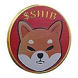 applyvt Monedas Dogecoin, Oro/Plata Shiba inu Coin Moneda De Coleccionistas Redondas Conmemorativas De Dogecoin, Moneda En Relieve De Dos Caras