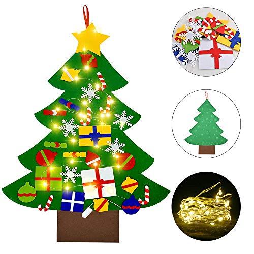 albero di natale montessori faburo Feltro Albero Natale