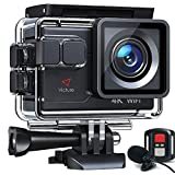 【令和最新】Victure アクションカメラ 4K/30fps 20MP画素 ウェブカメラ ウェブカメラ PC Webカメラ ウェブカメラ 外部マイク対応 リモコン付き WiFi搭載 手振れ補正 40M防水 水中カメラ 170度超広角レンズ 充電可大容量バッテリー2個 豊富な付属品付き バイク/自転車/車などに取り付け ウェアラブルカメラ アクションカム
