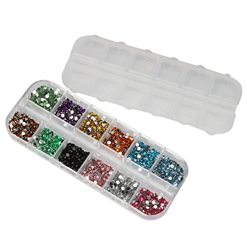 Five Season 3000pcs Nail Art Gems Mixed Colors Nail Art Rhinestones(Size 2mm) by Five Season
