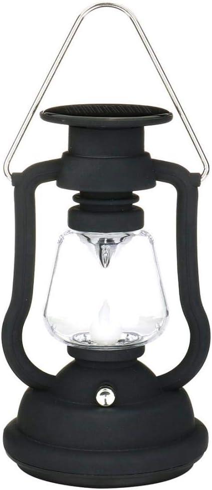 Black Antique Solar Lantern Lights Outdoor Waterproof Solar Table Lamp Hanging Lighting with 7 LED for Garden Patio Umbrella Lamp Tree Decor Camping Lantern Hurricane Lantern