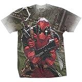 Marvel Camiseta con Licencia Oficial de Deadpool, impresión por sublimación, para Hombre, tamaño XXL, 106,68 cm