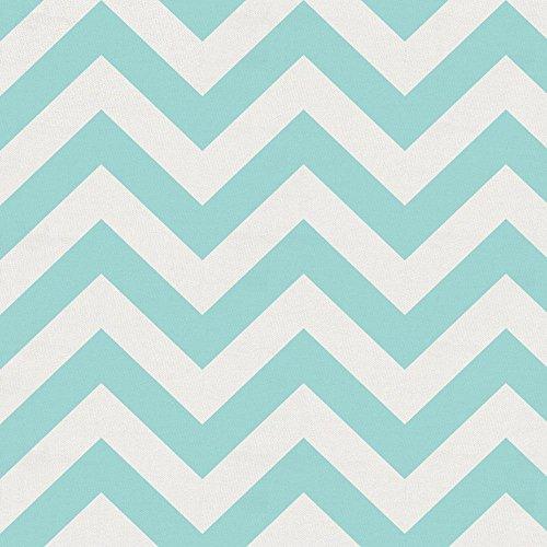 Carousel Designs Seafoam Aqua Chevron Fabric by the Yard - Organic 100% Cotton