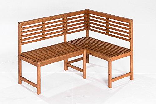 gartenmoebel-einkauf Eckbank LINZ 142x100cm, Eukalyptus geölt, FSC®-Zertifiziert