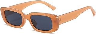 نظارة شمسية مستطيلة الشكل للنساء من BUTABY بتصميم القيادة Gl 90 Vintage Fashion بإطار مربع ضيق لحماية UV400