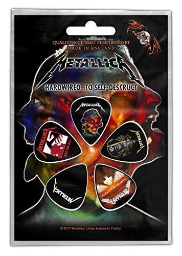 Metallica Hardwired.pack De 5 Guitarra Púas/Púas (Rz)