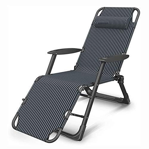 Silla Plegable Ligera Al aire libre reclinable, plegable gravedad Sun Silla del ocioso, cama plegable de la siesta Multi-cinética Silla de tijera fuerte capacidad de carga (Color: B) ( Color : B )