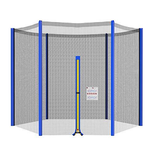 NONMON Red de Seguridad Repuesto para Trampolín Exterior,Círculo Diámetro 244 cm,Resistente a Rayos UV & Recinto de Malla,Envolvente Protectora para 8ft Cama Elástica Jardín Deportivo de 6 Barras