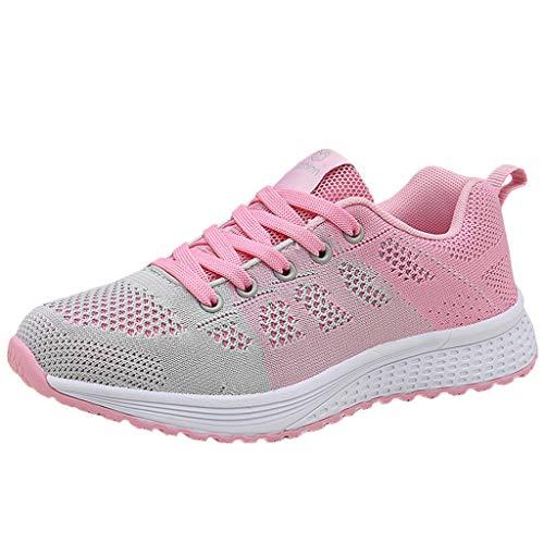 ROVNKD Scarpe da ginnastica da donna per attività all'aria aperta con suola morbida e ampia scelta di colori 35-40, Rosa (rosa.), 38 EU