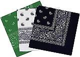 Pañuelos Bandanas Paisley de Algodón 55x55cm Multiuso para Disfraz o Complemento de Moda