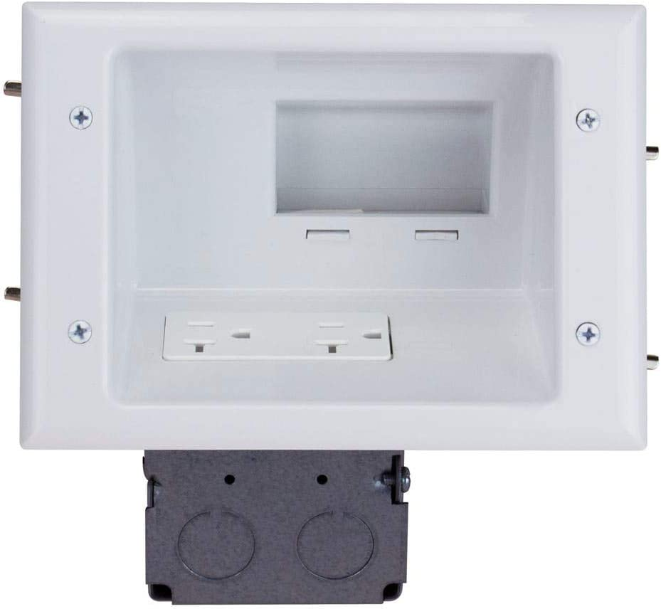 Monoprice Recessed Low Voltage Mid-Size Max 87% Fresno Mall OFF 20 Duplex Plate with Amp