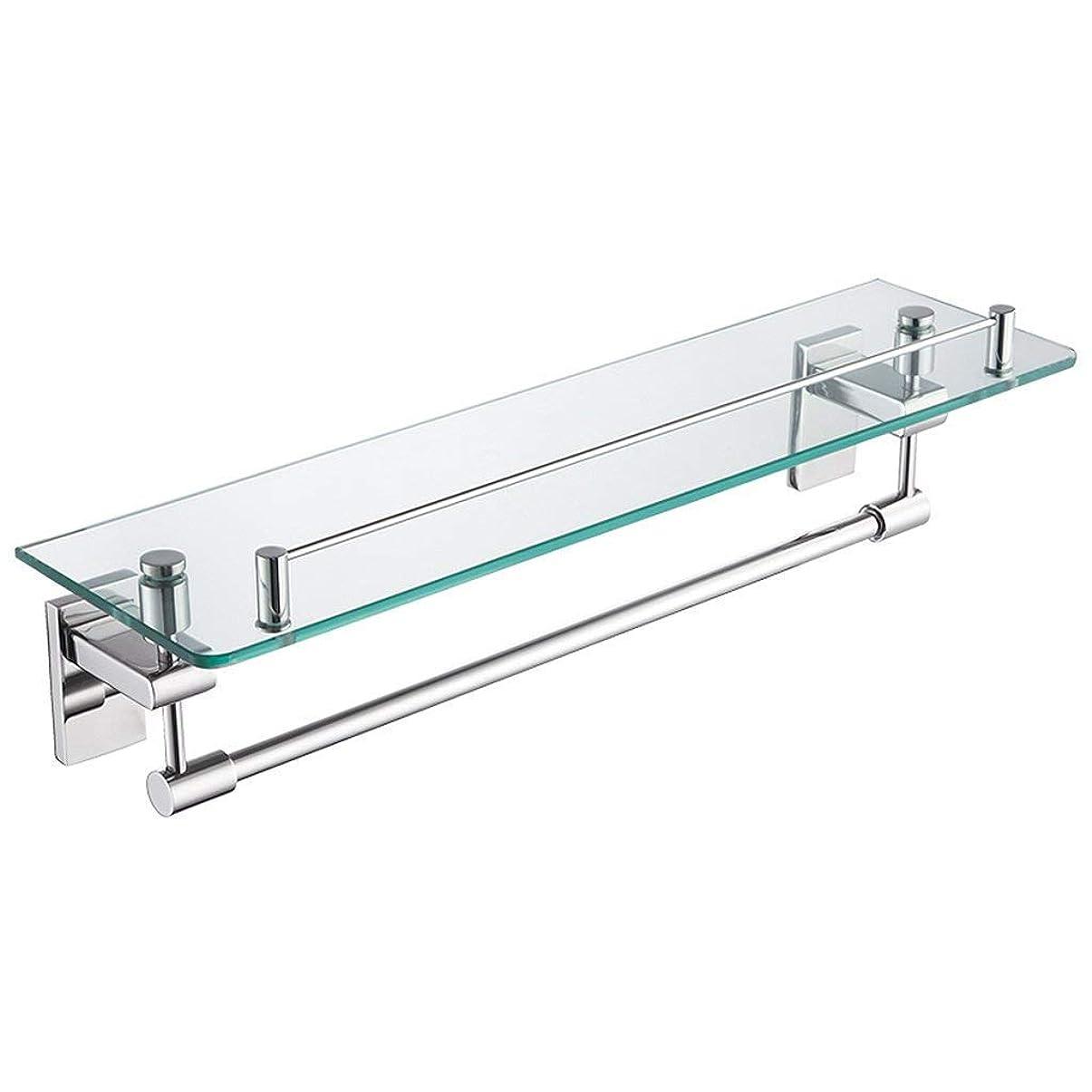 エキスパートバルセロナメドレーDXX-HR ガラスのバスルーム棚、ステンレス鋼の浴室トイレ、コートラック、タオル掛け、13 * 13 * 47センチメートル