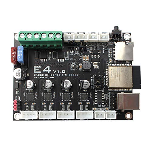 YUYAN 1 Set E4 V1.0 Wifi Control Board ESP32&TMC2209 with Bluetooth for 3D Printer CNC Routers