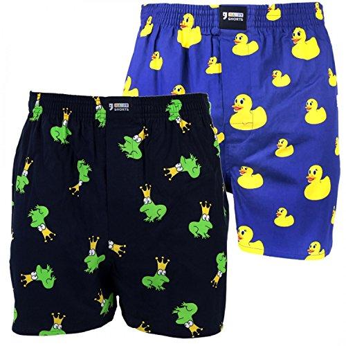 Happy Shorts 2 Webboxer Herren Boxer Motiv Boxershorts Design 15, Grösse:L - 6-52, Präzise Farbe:Design 15