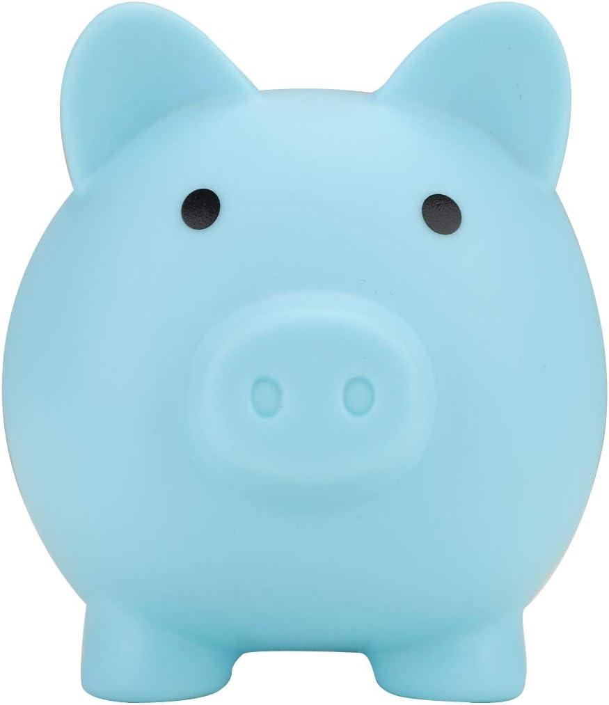 Jroyseter Sch/önes Sparschwein mit unten drehbarem Deckel Gro/ße Kapazit/ät Schwein Sparb/üchse Gutes Geschenk f/ür Kinder Kinder Lagerung Geldbanken Blau-L