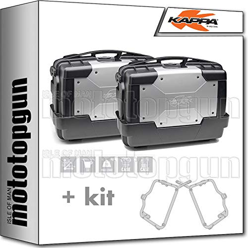 kappa maletas laterales kgr33pack2 garda 33 lt + portamaletas lateral fijacion rapida monokey compatible con bmw r 1250 gs adventure 2020 20