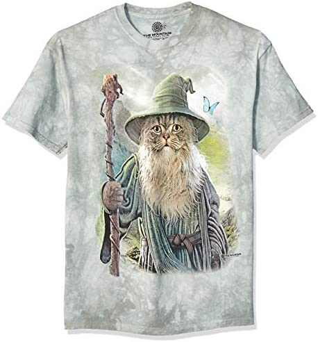 The Mountain unisex adult Catdalf T Shirt Green Medium US product image